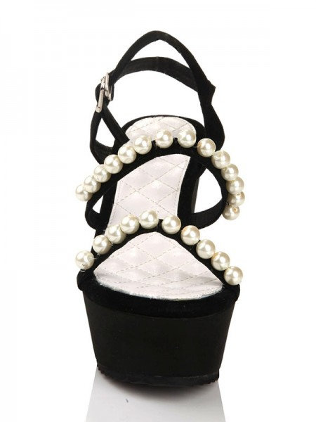 Flock Pearls Sandalen Wedges